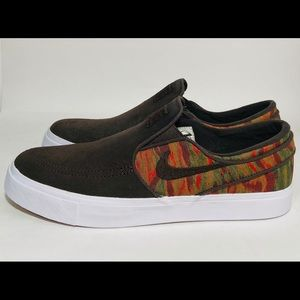 Nike Air Zoom Stefan Janoski Brown Slip On Camo